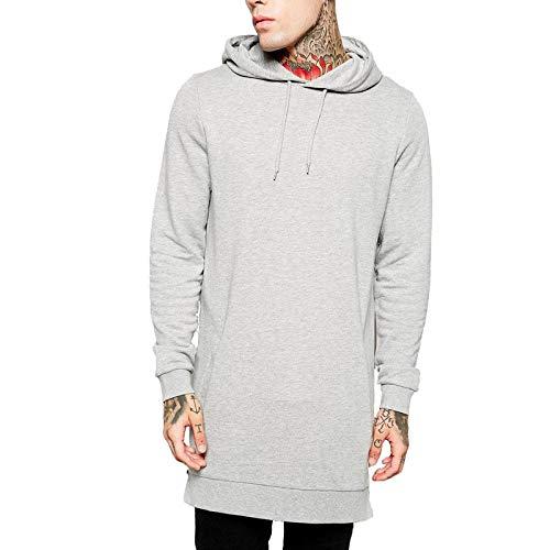 HANGYIKJ Herren Langarm Sweatshirt Seitlicher Reißverschluss Sportswear Loose Sports Hoodie