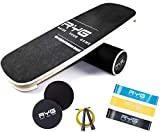 Raise Your Game Balance Board Trainer Agility Set, Wooden Wobble Roller for Exercise...