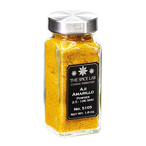 """The Spice Lab No. 105 - Aji Amarillo Chile Powder """"yellow chili pepper"""" Peruvian Chili Pepper- Kosher Gluten-Free Non-GMO All Natural Spice - French Jar"""