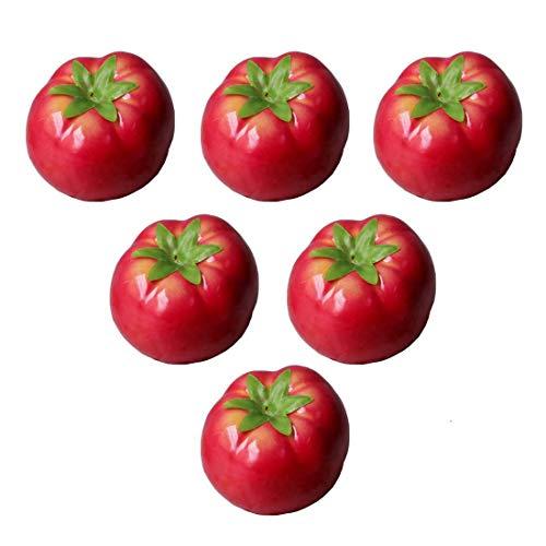 Lorigun Künstliche Tomaten Simulation Gefälschte Gemüse Foto Requisiten Home Dekoration X 6 Stücke