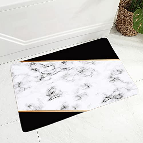 OPLJ Alfombra Abstracta geométrica en Blanco y Negro de Estilo nórdico, Felpudo Antideslizante para el Suelo, Pasillo, Alfombra Interior, Felpudo A4 60x90cm