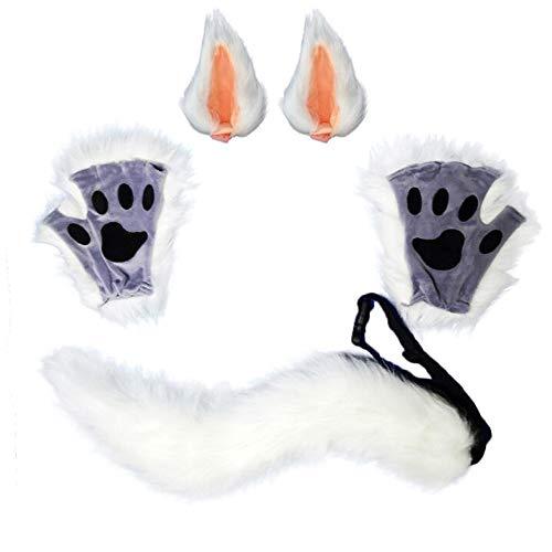 Halloween Monster imitación Fox Wolf perro gato pata guantes