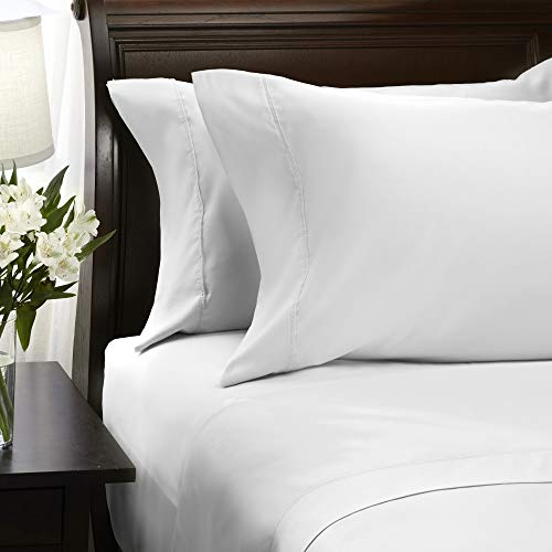 Hallmark White Bed Sheets Queen Set,...