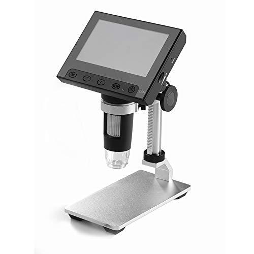 QWET 1000X Elektronische Lupe 4,3-Zoll-Mikroskop 720P Hd-Lupe Mit 8 Led-Leuchten, Verwendet FüR Wartungsexperimente Und Zeichnungen,A