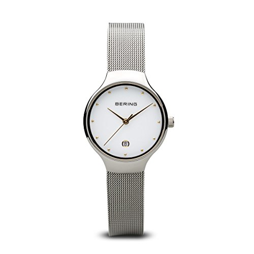 BERING Damen Analog Quarz Uhr mit Edelstahl Armband 13326-001