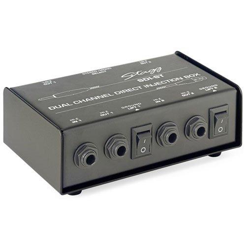 Stagg SDI-ST 2-Kanal DI Box mit Mono/Stereo Schalter
