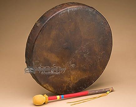 """Premium Buffalo Frame Drum & Beater 16"""" Tohlakai"""