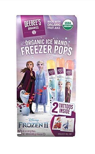 Deebee's Organic Direct sale of manufacturer Disney's Frozen II Ice 2 pack Wand Ranking TOP12 Pops Freezer