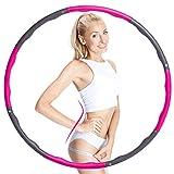 KilYn Hula Hoop Fitness, 8 Secciones Professional Hula Hoop con Espuma, Desmontable, Diámetro Ajustable para Perder Peso, Gimnasio, Ejercicio, para Adultos, Niños, Principiantes