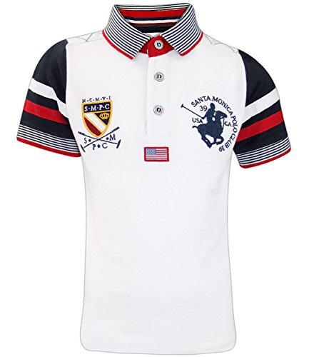 Santa Monica Kids Albany T- Shirt White Year 8-9