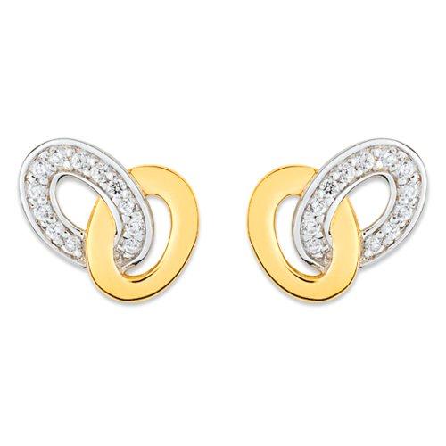 10071996 Women's Stud Earrings Zirconium Oxide Gold Plated