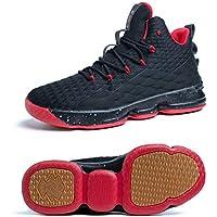 Zapatos Hombre Deporte de Baloncesto Sneakers de Malla para Correr Zapatillas Antideslizantes Negro Rojo Champán Verde Brillante 36-46 Negro Rojo 41