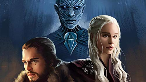 lcyab 1000 Teile Set Adult Art Puzzle Puzzles-Game of Thrones Poster Von Jon Snow Daenerys Night King Puzzles Für Erwachsene Freizeitpuzzlespiele DIY Art Home Wall Decor,Bunt