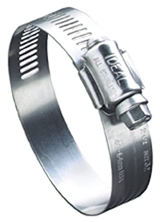 2 Piece Ideal-Tridon 382150080051 SmartSeal 5//8 300-Stainless Steel Hose Clamp