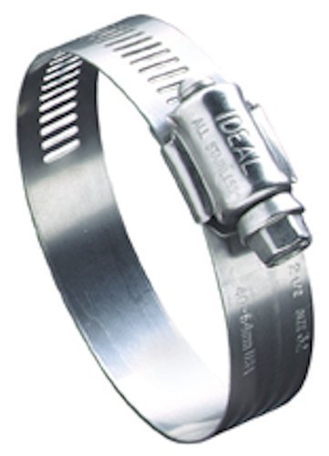 "Ideal-Tridon 68 Series Stainless Steel 201/301 Worm Gear Hose Clamp, General Purpose, 36 SAE Size, Fits 1-3/4 - 2"" Hose ID, 44 mm - 70 mm Hose OD Range (Pack of 10)"