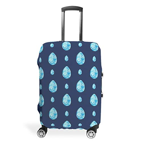 Maleta de viaje de Pascua protector – Llamativo 4 tamaños para equipaje protector, White (Blanco) - STELULI-XLXT-24