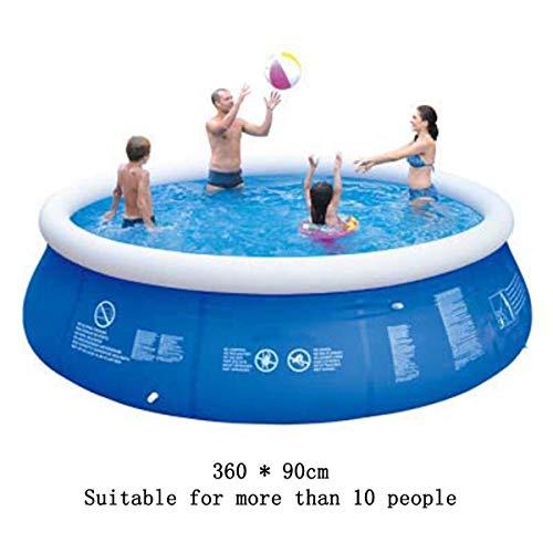 SHARESUN Großer Aufblasbarer Pool, Blow Up Kiddie-Pool Für Familie, Hinterhof, Außenpool, Aufblasbaren Pool Für Erwachsene, 360 * 90 cm / 360 * 73Cm,360 * 90cm