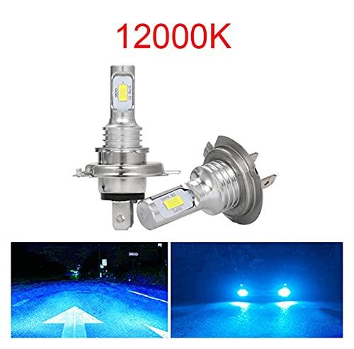 MEIYING PINGPANG LED CSP Mini H7 LED Lámparas para Coches Bombillas De Faros H4 LED H8 H11 H6 Luz De Niebla HB3 9005 HB4 Azul Hielo 800 0K 3000K Auto 12V (Emitting Color : 12000K, Lumens : 12000Lm)