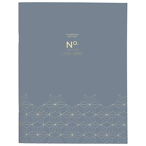 Academic Planner 2021-2022, Cambridge Monthly Planner, 8-1/2' x 11', Large, for School, Teacher, Student, WorkStyle, Gray Geo (5557G-091A)