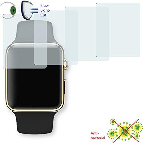 DISAGU 4x Pellicola Protettiva ClearScreen per Apple Watch Edition 38mm Filtro Anti bakteriell, Bluelight Cut Pellicola Protettiva (intenzionalmente più Piccoli del Display, Essendo Questo Curvo)