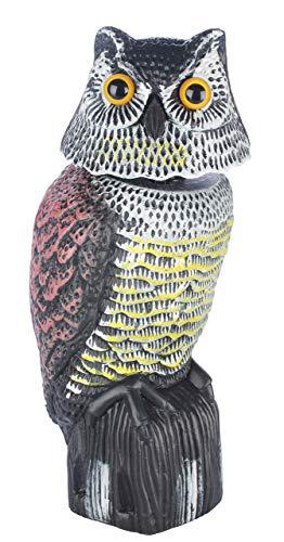 skycabin 首振りフクロウ, 驚異な目玉で威嚇!本物そっくりでどんな,鳥もびっくり!【防鳥防獣対策】撃退ハト、スズメ、カラス、ムクドリ、ヒヨドリなど 鳩よけ ,鳥よけ 鳩対策 鳥対策 撃退