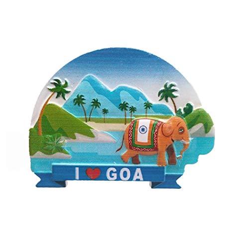 3D Goa India Koelkast Magneet Souvenir Gift Collection Thuis Keuken Decoratie Magnetische Sticker, Goa India Koelkast Magneet