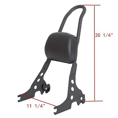 Passenger Backrest Pad Sissy Bar Cushion For Harley Sportster XL XLH 883 1200 Black