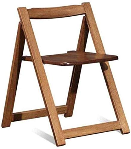QZMX Stuhl Massivholzstuhl, einfaches Dining Chair, Modern Lounge Chair, faltbar, stabile Struktur, leicht zu reinigen Bürostuhl (Size : Wood Color)