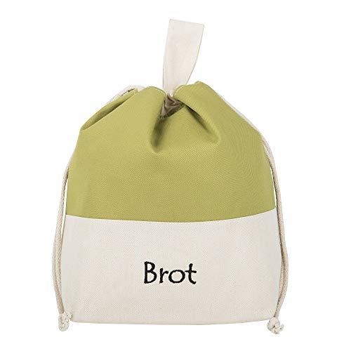 Brottasche aus Baumwolle, 3 in 1, fürs Frischhalten+Servieren+Einkaufen, atmungsaktiv und dekorativ, Modell Olive, 32 x 35 cm