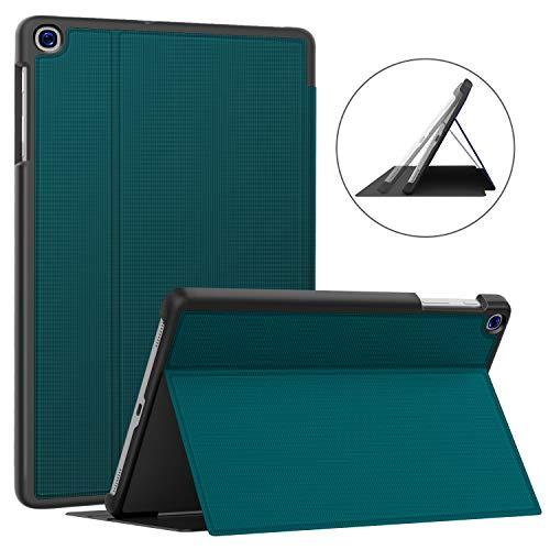 Soke Hülle für Samsung Galaxy Tab A 10.1 2019 (SM-T510/T515), Folio Ständer Ultraleicht TPU Schutzhülle für Galaxy Tab A 10.1 Zoll 2019, Blaugrün