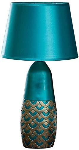 Wlnnes Nachttischleuchte Einfache Dekoration Schreibtischlampe Harz Skulptur Pfau-Muster E27 Tischleuchte Haushalt Warm-Schreibtisch-Licht Wohnzimmer Tischleuchten