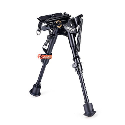 zeadio 6-9 inches Swivel Pivot Tiltable Bipod with Sling...