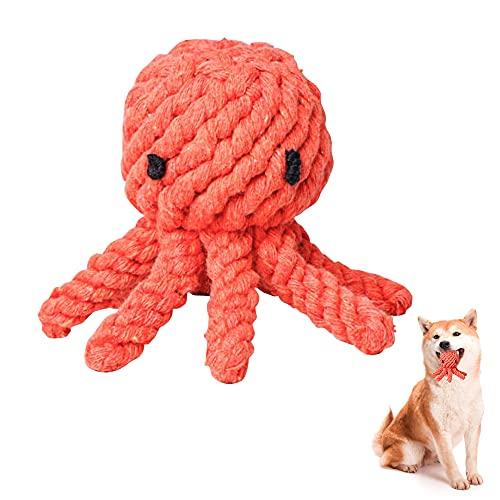 O-Kinee Haustier Kauspielzeug, Hundespielzeug, Hergestellt aus Natürlicher Baumwolle, Zahnreingung Geeignet, Interaktives Pet Play Training Spielzeug, Kleine Und Mittlere Hunde Hundespielzeug