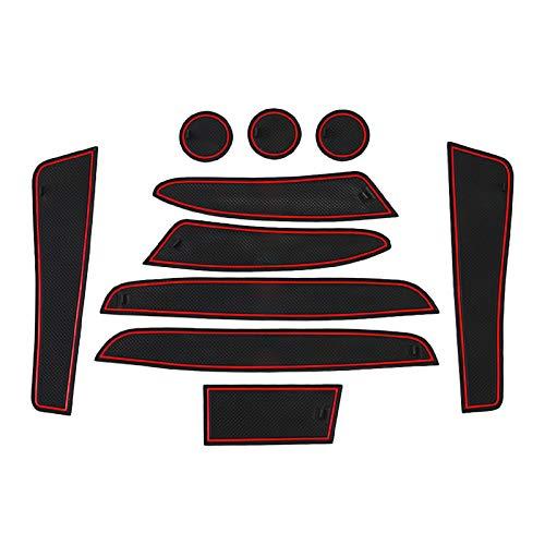 CDEFG para Benz Smart Forfour W453 Coche Accesorios Antideslizante Copa Mats Anti Slip Puerta Ranura de Acceso Kit de la Estera del cojín de la Ranura decoración de Interiores (Rojo)
