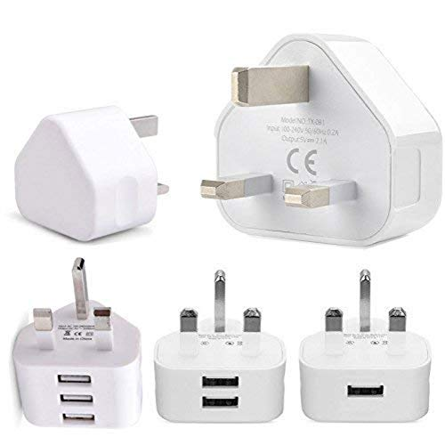 USB Charger Plug Safe Durable UK Adapter Plug Charging For Mobile Phones iPhone iPad iPod Tablet Samsung phones for yourself friends family