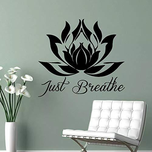 HGFDHG Mandala Lotus Pegatina de Pared Sala de meditación Art Deco Yoga Studio decoración de Muebles para el hogar Vinilo Ventana Pared Pegatina para Puerta