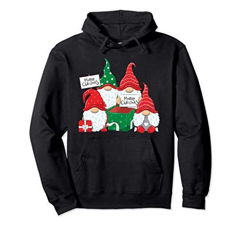 Buon Natale Cappelli di Babbo Natale Nani Folletti Natalizi Felpa con Cappuccio