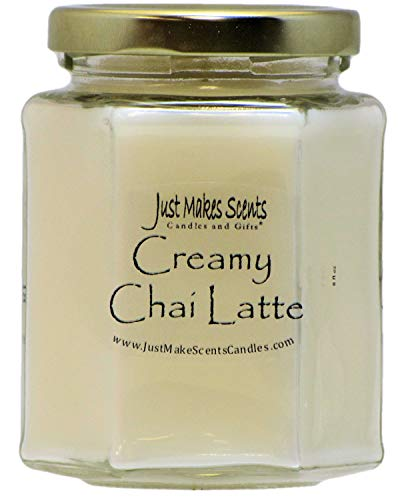 Just Makes Scents Creamy Chai Latte Scented Candle | Nutmeg, Cinnamon and White Tea | Hand Poured in The USA