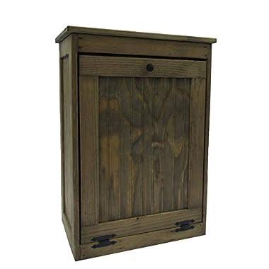 Wooden Tilt-out Trash Bin Hinged Top