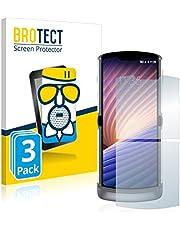 BROTECT Antireflecterende Glas Screenprotector compatibel met Motorola Razr 5G 2020 (3 Stuks) - Anti-Glare Beschermglas met 9H hardheid, Mat