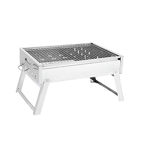 Grill Tragbarer Innenraumgrill BBQ Kits Smart Grillkits Faltbare Edelstahl-Tischplatte Holzkohlegrill für Indoor-Reise-Campers
