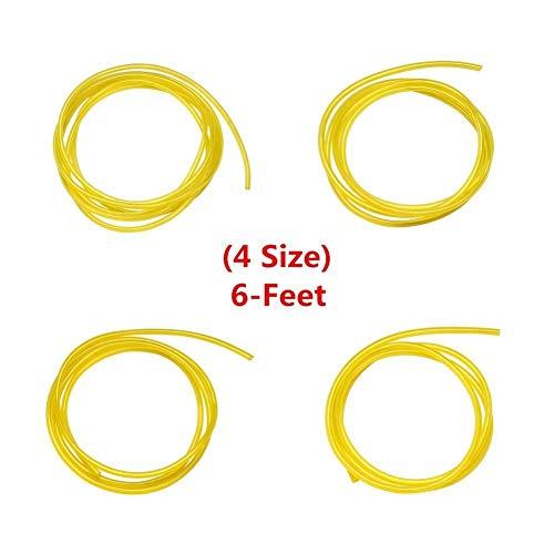 Set de 4 tuyaux en PVC pour carburant Longueur 2 m Dimensions (diamètre intérieur x diamètre extérieur) 2,5 x 5 mm, 3 x 5 mm, 2 x 3,5 mm, 3 x 6 mm