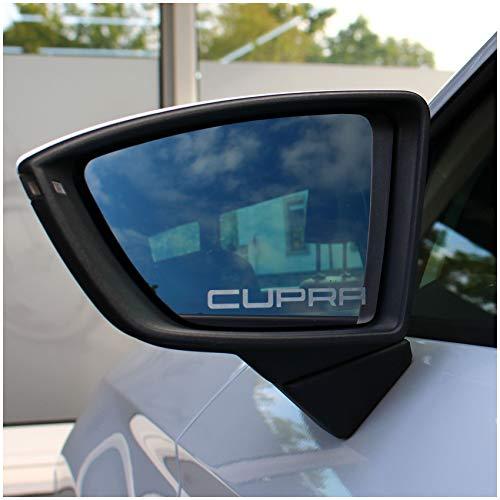 2er Set Spiegelaufkleber Milchglas Außenspiegel Auto KFZ Mirror Sticker Vinyl Rückspiegel (K047 Cupra)