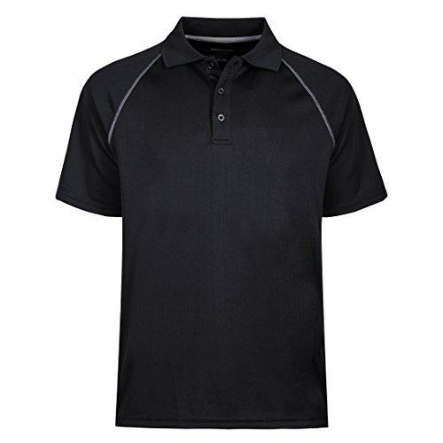 MOHEEN Herren Poloshirt/Funktionsshirt in Übergrößen S bis 5XL - für Sport Freizeit und Arbeit (Schwarz, XXXL)