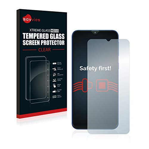Savvies Panzerglas kompatibel mit Samsung Galaxy M20 - Echt-Glas, 9H Härte, Anti-Fingerprint