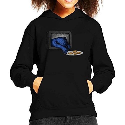 Cloud City 7 Sesamstraat Cookie Monster komen voor uw Cookies Kids Hooded Sweatshirt