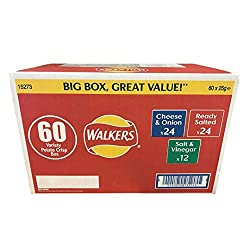 Our classic crisps are the nation's favourite. Everyone has a favourite delicious and mouth-watering flavour. Walkers mixed crisps box contains packets of tasty ready salted flavour crisps. A classic Walkers flavour, ready salted crisps are the origi...