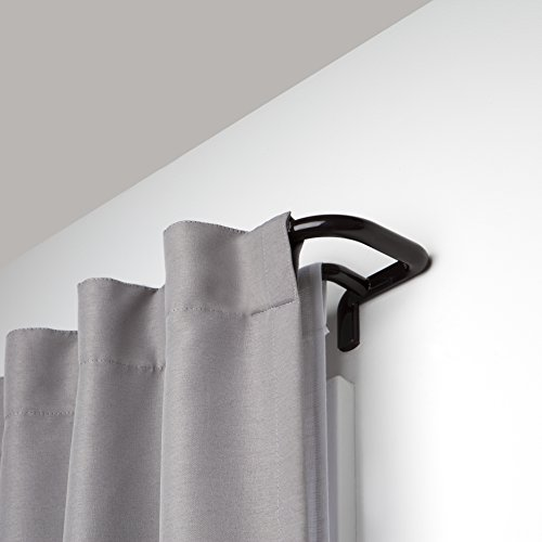 Umbra Twilight Double Curtain Rod Set – Wrap Around Design is Ideal for Blackout or Room Darkening Panels, 88 to 144-Inch, Auburn Bronze