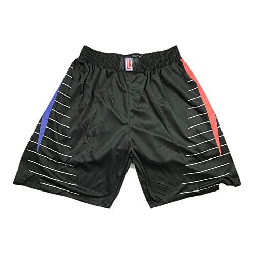 XXJJ Clippers Leonard - Pantalones cortos de baloncesto para hombre, 90S, pantalones cortos deportivos (S-XXL), transpirables y de secado rápido, de malla, pantalones de bola E-L