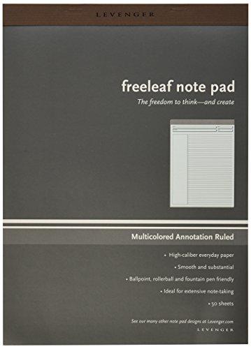 Levenger Freeleaf Multicolored Annotation RL Pads, Letter 5 (ADS5570)